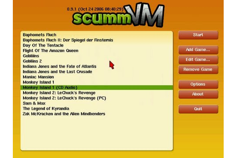 How to get a SCUMMVM (Point and Click PC games) emulator ...