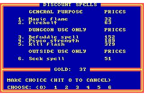 Legacy of The Ancients Download (1989 Role playing Game)