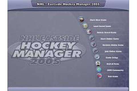 NHL Eastside Hockey Manager Download (2004 Sports Game)