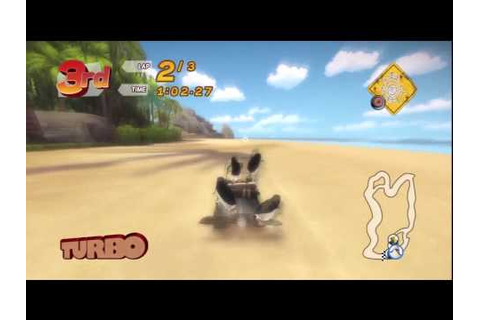 Madagascar Kartz (PS3) 100cc race: Shark Beach - YouTube