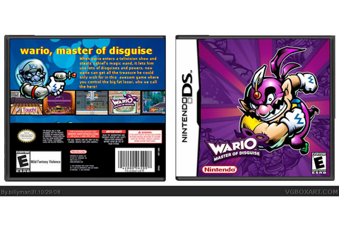 Wario : Master of Disguise Nintendo DS Box Art Cover by ...
