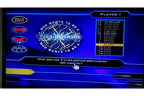 Who Wants To Be A Millionaire? Wii Game 1 - YouTube
