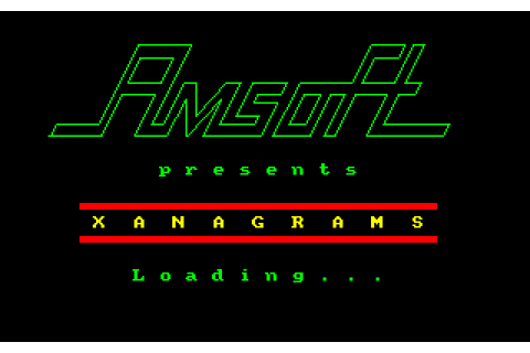 Xanagrams (1984) by Dean Software Amstrad CPC game