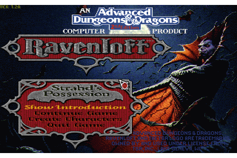 Ravenloft: Strahd's Possession (1994) by Dreamforge ...