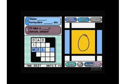 Crosswords DS Nintendo DS Gameplay - Watch this - YouTube