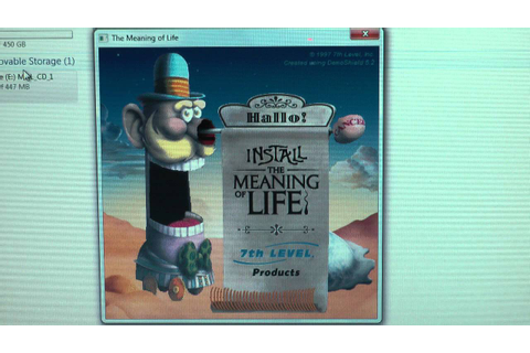 7th Level Monty Python's The Meaning of Life CD ROM set up ...