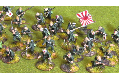 Bolt Action Japanese SNLF warlord games - YouTube