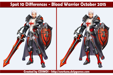 Spot 10 Differences - Blood Warrior October 2015 ...
