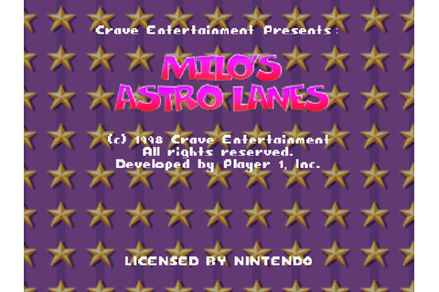 Milo's Astro Lanes Screenshots | GameFabrique