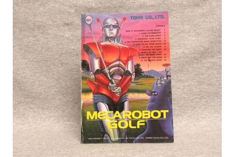 MECAROBOT GOLF Manual, no game SNES SUPER NINTENDO | eBay