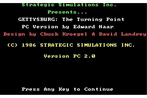 Gettysburg: The Turning Point Download (1986 Strategy Game)
