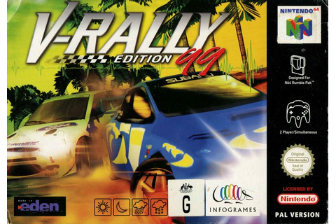 V-Rally: Edition 99 (1998) Nintendo 64 box cover art ...