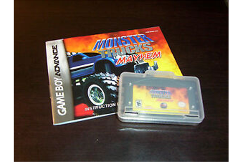 MONSTER TRUCKS MAYHEM W/CASE BOOK NINTENDO GAME BOY ...