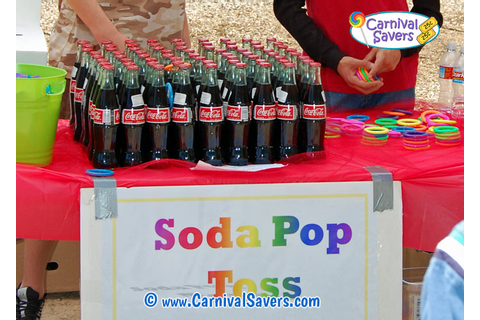 Carnival Game and Booth Ideas - Cola Ring Toss