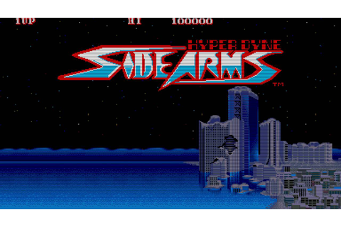 Side Arms - Hyper Dyne (Arcade Game Intro) - YouTube
