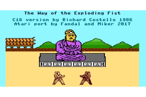 Indie Retro News: The Way of the Exploding Fist - A ...