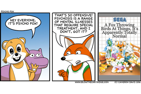 Psycho Fox - A Video Games Comic - Dueling Analogs