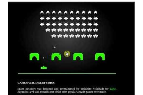 Space Invaders - Classic Video Game - YouTube