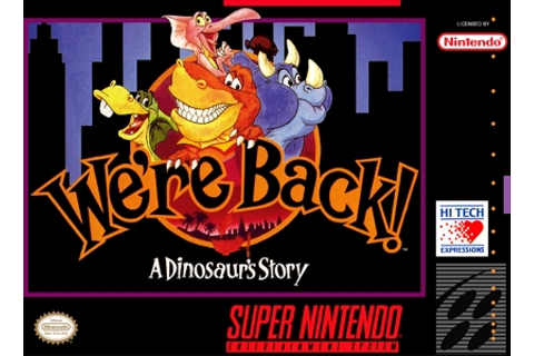 We're Back a Dinosaur's Tale SNES Super Nintendo