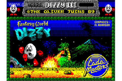 Fantasy World Dizzy - Sinclair ZX Spectrum - Games Database