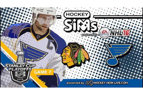 Blackhawks vs Blues: Game 7 (NHL 16 Hockey Sims) - YouTube