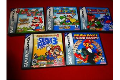 EMPTY Replacement Cases! Super Mario World Gameboy Advance ...