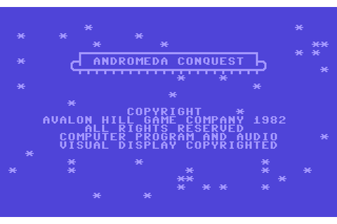 Andromeda Conquest (1982) by Avalon Hill C64 game