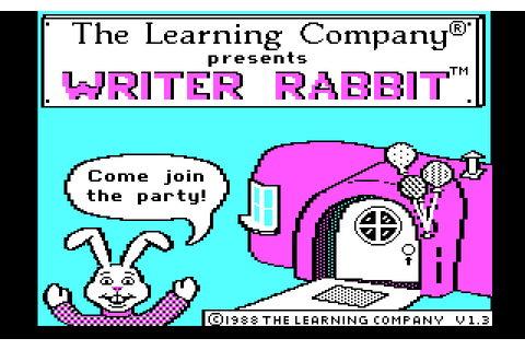 Writer Rabbit (1988) by The Learning Company MS-DOS game