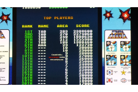 Twin Cobra (Arcade Emulated / M.A.M.E.) high score by Event