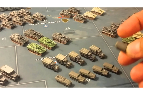Painted German army miniatures Axis & Allies game. - YouTube
