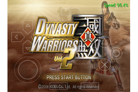 Dynasty Warriors Vol. 2 PSP ISO CSO - PPSSPP GAME - APK ...