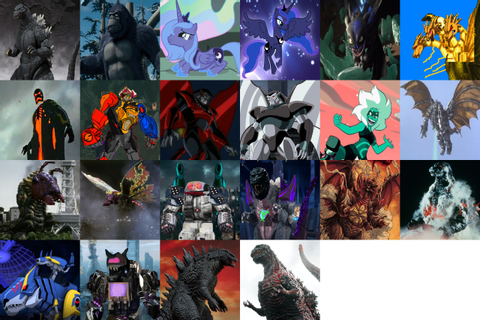 Mnstr Frc — i wanna try the big eight picture with godzilla...
