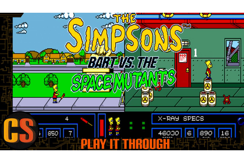 SIMPSONS BART VS THE SPACE MUTANTS - PLAY IT THROUGH ...