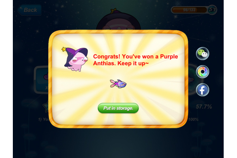 Happy Fish Tips (iOS Devices): Synth Game: Purple Anthias