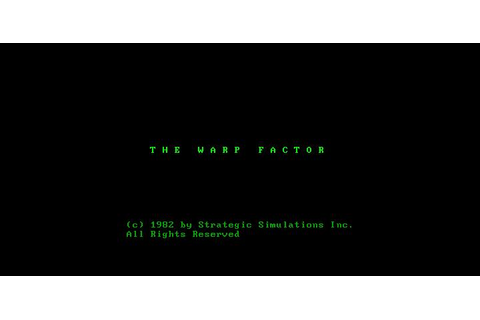 Warp Factor, The Download (1982 Strategy Game)