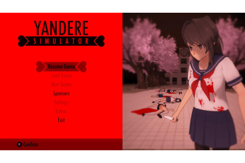 Yandere Title Screen | Yandere Simulator | Know Your Meme