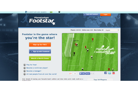 Planetarium Football Star - text based browser game