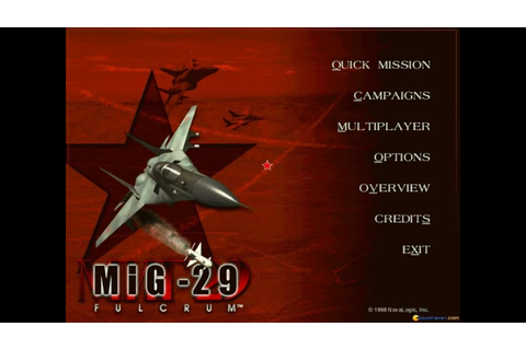 MiG-29 Fulcrum (Novalogic, 1998) gameplay (PC Game, 1998 ...