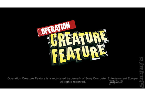 Artwork images: Operation Creature Feature - PS3 (1 of 1)