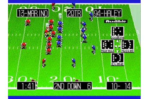 Tecmo Super Bowl III Final Edition - Pro Bowl (Genesis ...