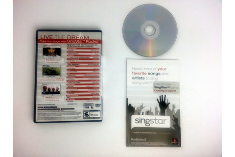 Singstar Rocks game for Playstation 2 (Complete) | The ...