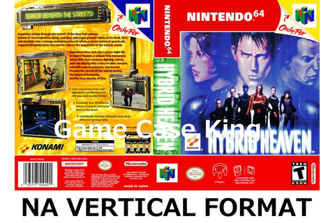 Hybrid Heaven N64 video game case | Game Case King ...
