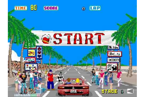 OutRun - Complete Playthrough & Ending Sega Arcade Version ...