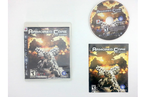 Armored Core For Answer game for Sony Playstation 3 PS3 ...