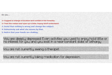 Depression Quest – Free Interactive Game on Living with ...