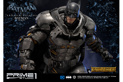 Batman Arkham Origins Statue Batman XE Suit & Batman XE ...