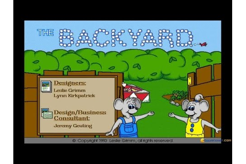 Backyard, The gameplay (PC Game, 1993) - YouTube