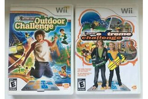 Wii Active Life Outdoor Challenge and Extreme Challenge ...