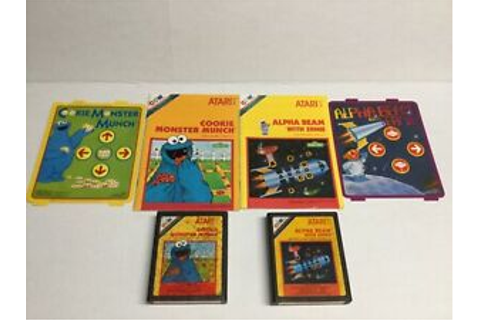 Atari 2600 Alpha Beam with Ernie Cookie Monster Munch Game ...
