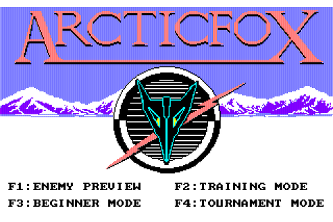 Arctic Fox (1988) NEC PC9801 game